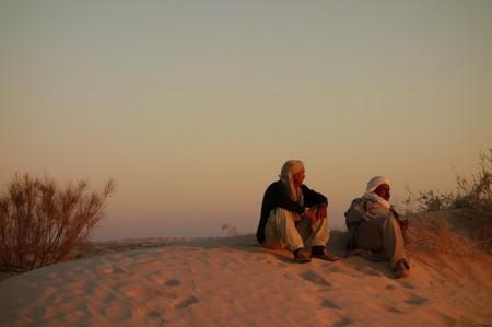 Dans le désert de Tunisie