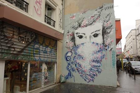 Street-Art, Paris, rue du Faubourg du Temple