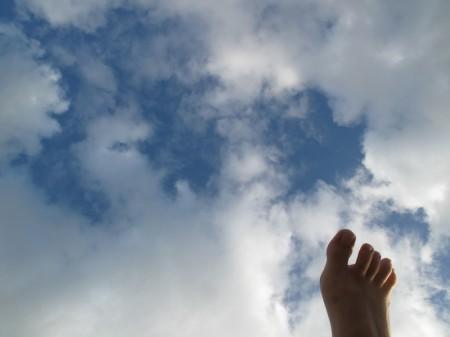 Les pieds dans les nuages