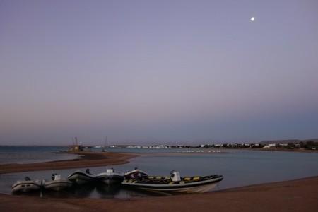 Lever de soleil sur la Mer Rouge en Egypte