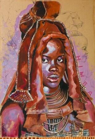 Femme Himba par Stéphaine Ledoux