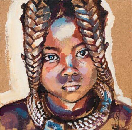 Petite fille Himba par Stéphaine Ledoux