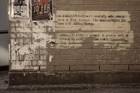 Sur les murs de Downtown East Side Vancouver